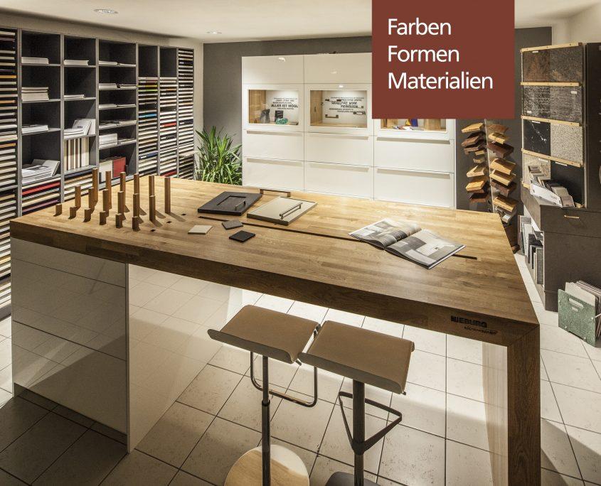 KüchenGalerie Follner, Beratungsbox der Formen, Farben und Materialien