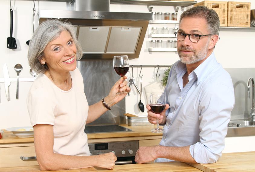Gourmet-Paar in der Küche
