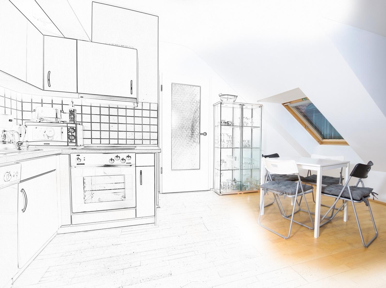 Küche im Dachgeschoss, Mansardeneinbau - KüchenGalerie Follner ...