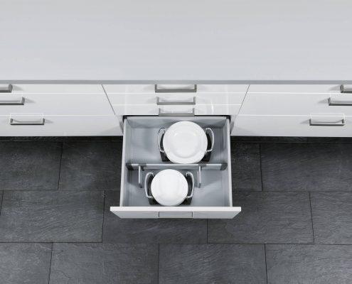 KüchenGalerie Follner; Aufbewahrungsbeispiel. Töpfe. Bildquelle: Wellmann